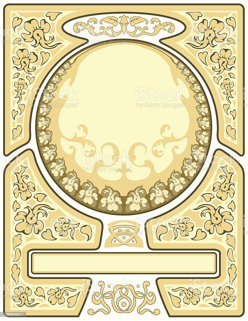 Art Nouveau Frame Stock Vector Art & More Images of