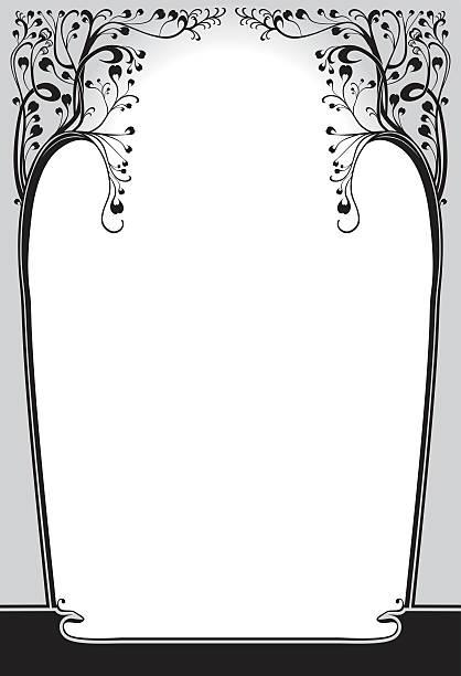art nouveau frame. - art nouveau stock illustrations, clip art, cartoons, & icons