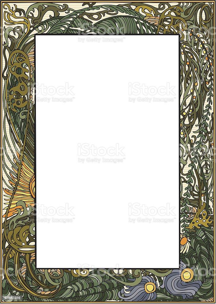 Art Nouveau Frame vector art illustration