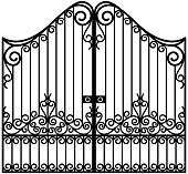 Art Nouveau gate illustration in vector.