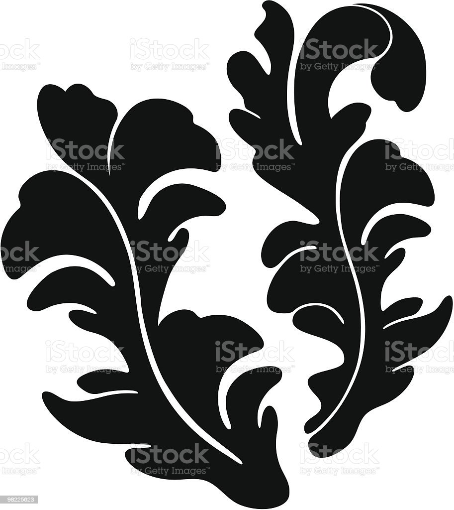 Art Nouveau Leaf Elements royalty-free art nouveau leaf elements stock vector art & more images of abstract