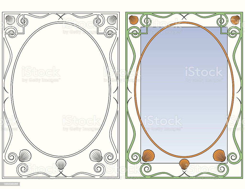 Art Nouveau bastidor de carcasa al mar ilustración de art nouveau bastidor de carcasa al mar y más banco de imágenes de abulón libre de derechos