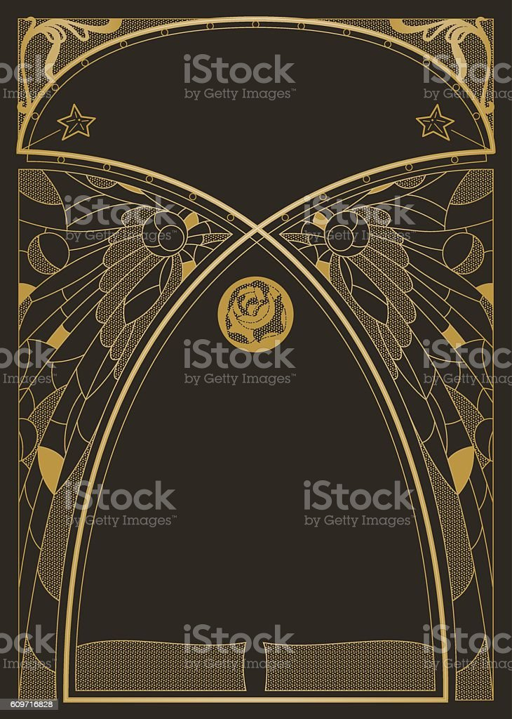 Art Nouveau Style Background vector art illustration