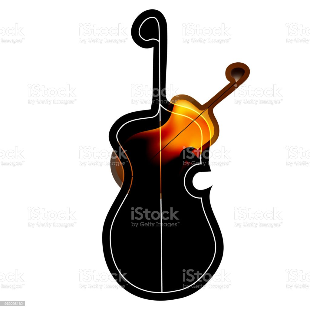 Art object stylized image of the guitar in the Gothic style. royalty-free art object stylized image of the guitar in the gothic style stock vector art & more images of acoustic guitar