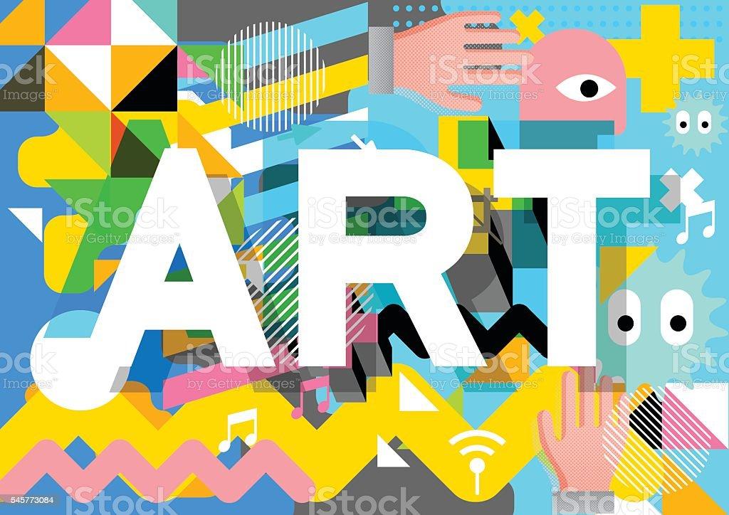 Art poster design vector art illustration