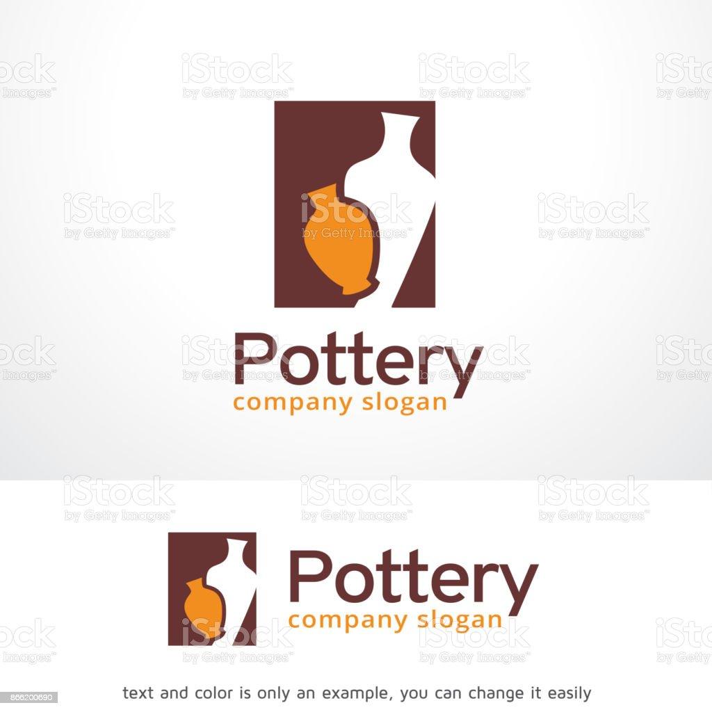 Vector de diseño de plantilla de arte cerámica símbolo, emblema, concepto, símbolo creativo, icono de diseño - ilustración de arte vectorial