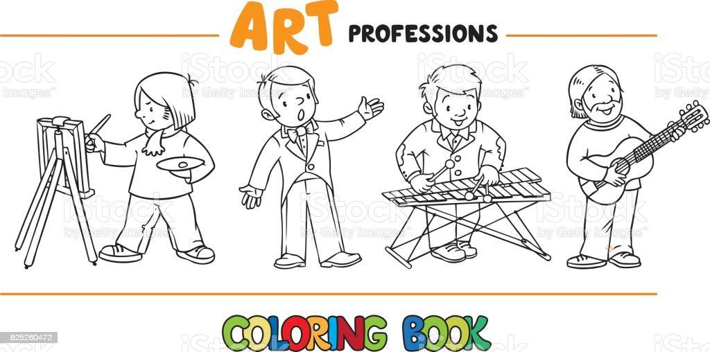 Ilustración de Libro Para Colorear Las Profesiones De Arte y más ...