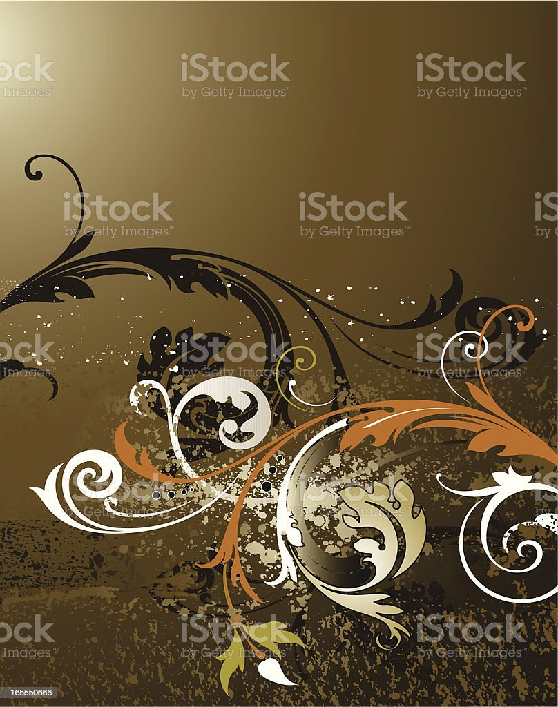 Art Scroll Background vector art illustration