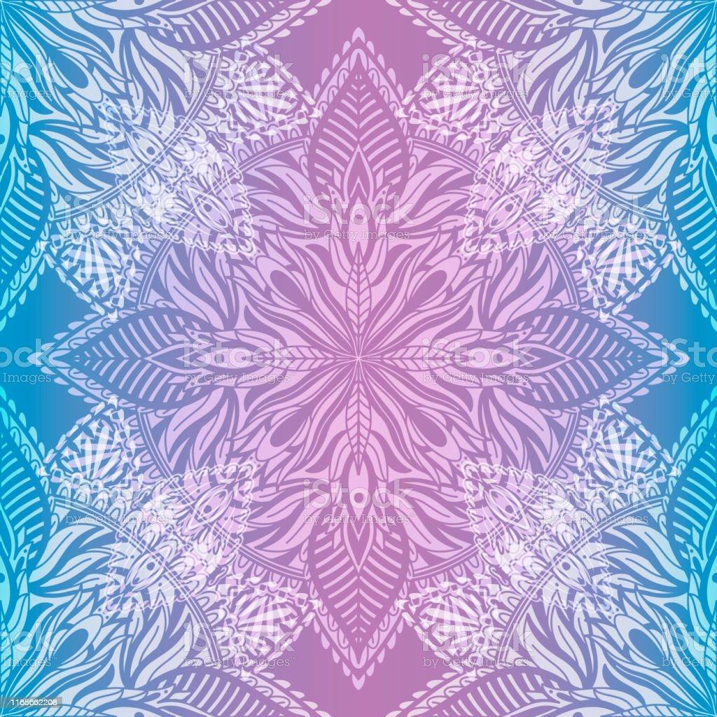 Art seamless pattern mandala. Ethnic abstract print. Colorful...