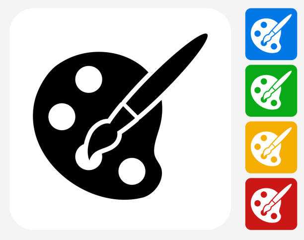 Art Tool Icon Flat Graphic Design vector art illustration