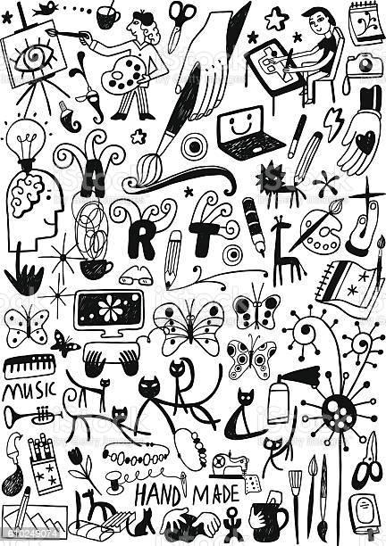 Art tools paint doodles vector id610249074?b=1&k=6&m=610249074&s=612x612&h=zle6zwdzwt3ctdggzzarznlynko2i7dilaopfy1ngxu=