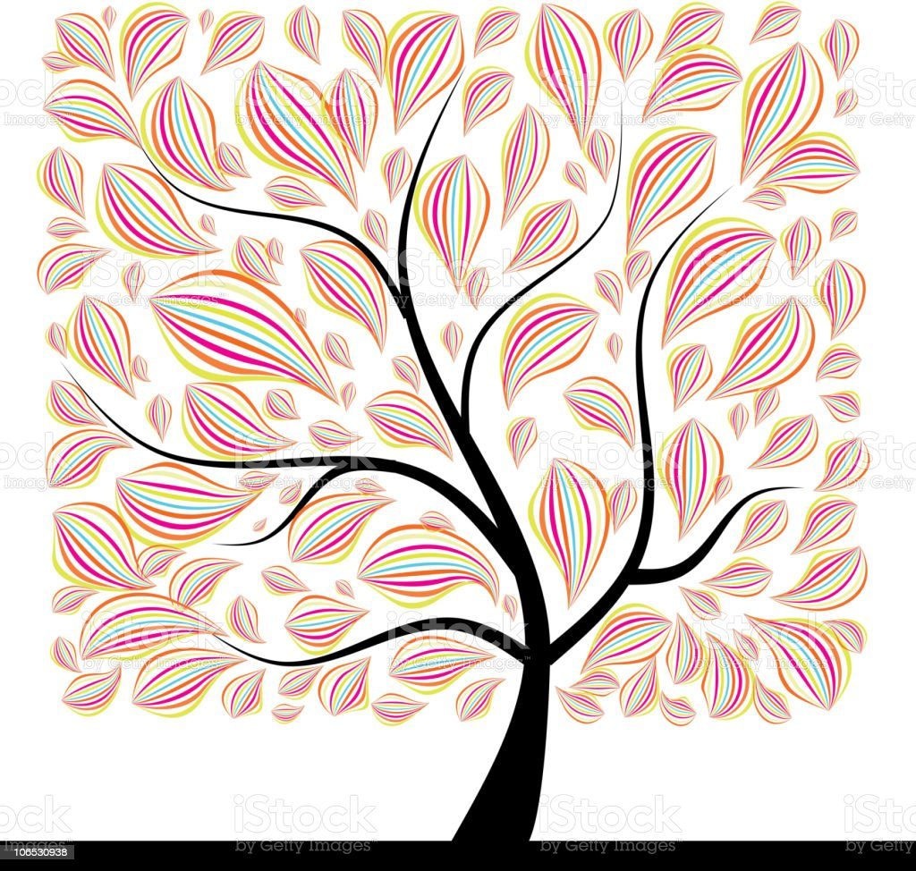 Art tree beautiful for your design royalty-free stock vector art