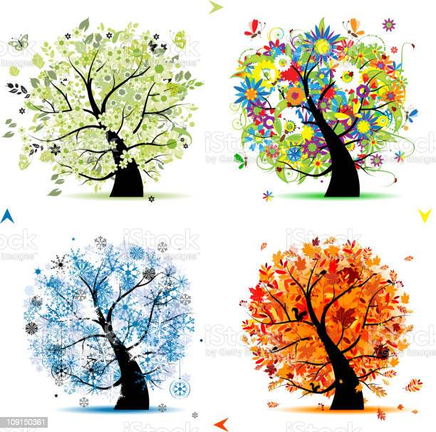 Art trees collection for your design four seasons vector id109150361?b=1&k=6&m=109150361&s=612x612&h=tds7exex9bibhfyzvythgaxgu5vzsmcnj8z9zckqi8g=
