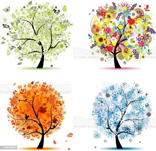 Art trees collection for your design four seasons vector id119539397?b=1&k=6&m=119539397&s=612x612&h=un bejardh2malcpumqrkax1g94xtuzsvqgrcxuh57m=