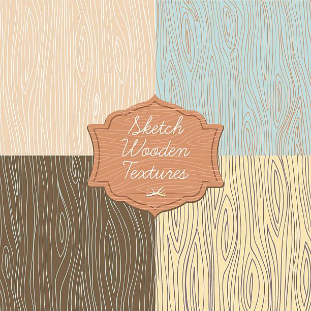sztuka tekstura drewna z farby - wood texture stock illustrations