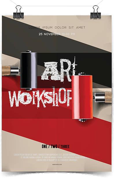 Plantilla de taller de arte - ilustración de arte vectorial