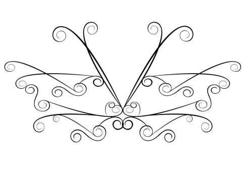 Artdeco Butterfly Accent ( Vector )