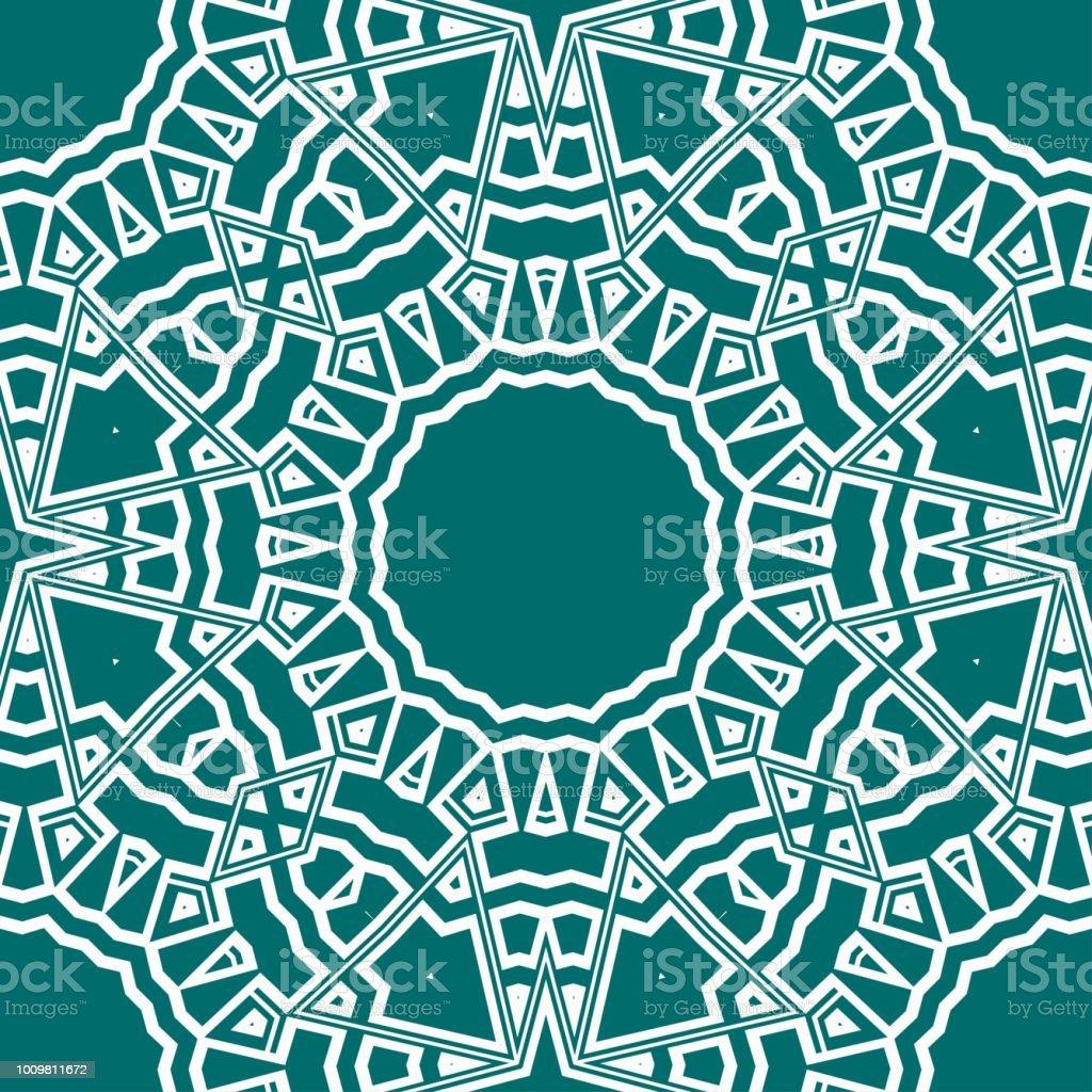 Artdeco Floral Pattern Seamless Vector Illustration For Invitation