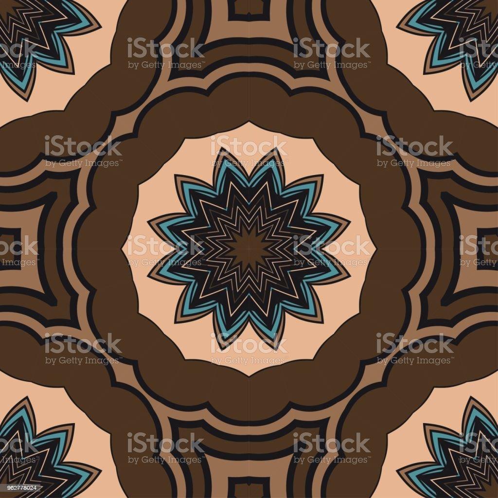 Art-deco floral pattern. Seamless. vector illustration. For invitation wedding, valentine's, background, wallpaper - arte vettoriale royalty-free di Adulto