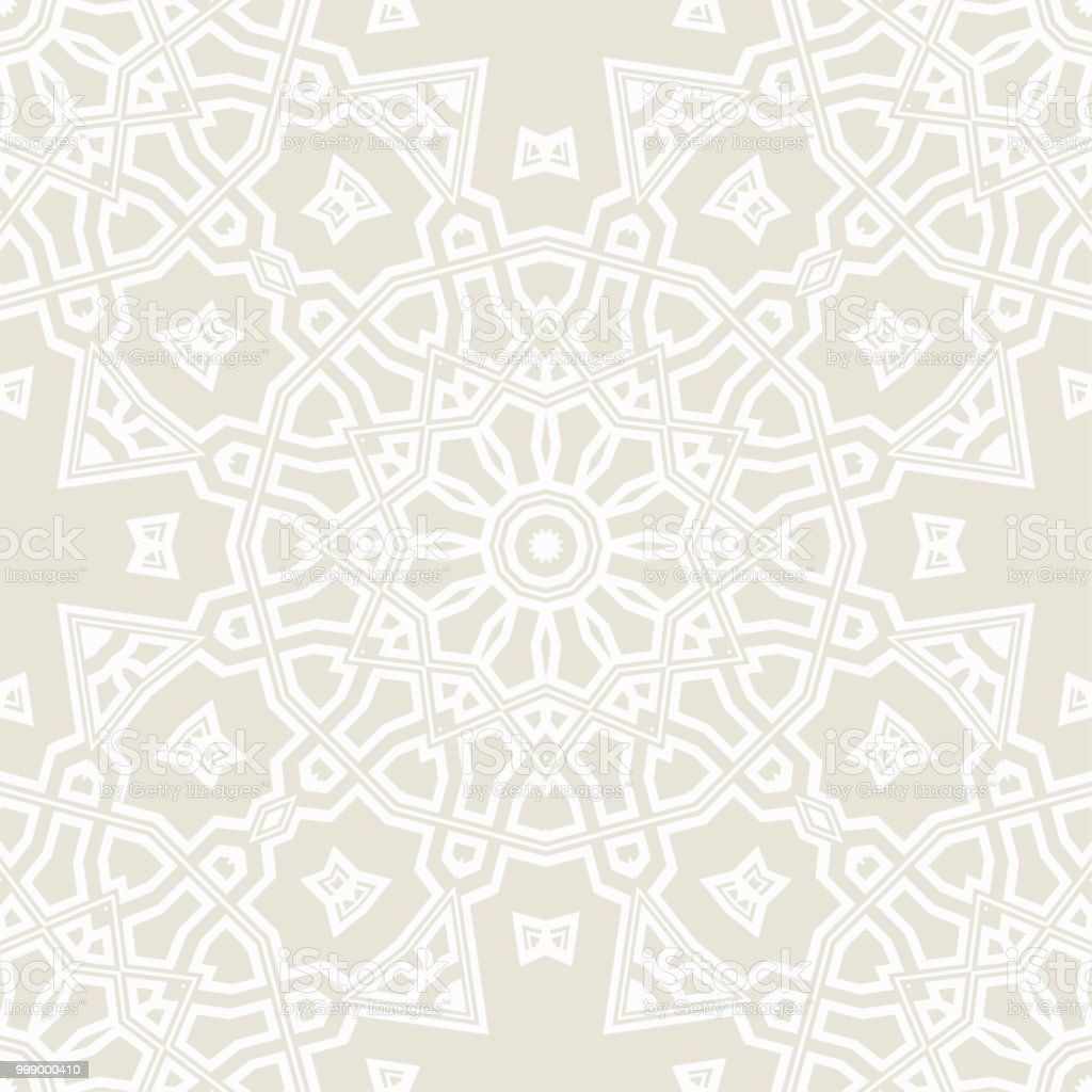 Artdeco Floral Pattern Seamless Vector Illustration For