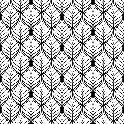 Art-Deco pattern, leaves