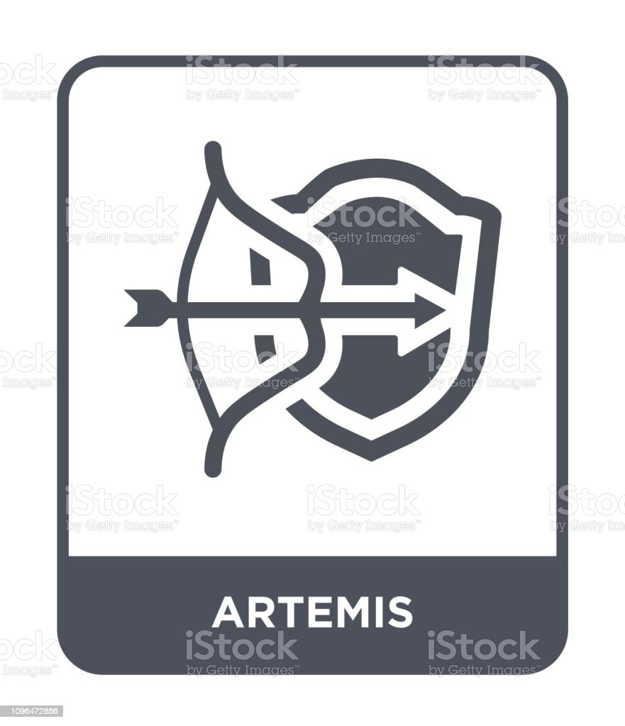 artemis icon vector on white background, artemis trendy filled icons from Greece collection vector art illustration