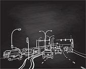 istock Artery Road Chalkboard 1189695081