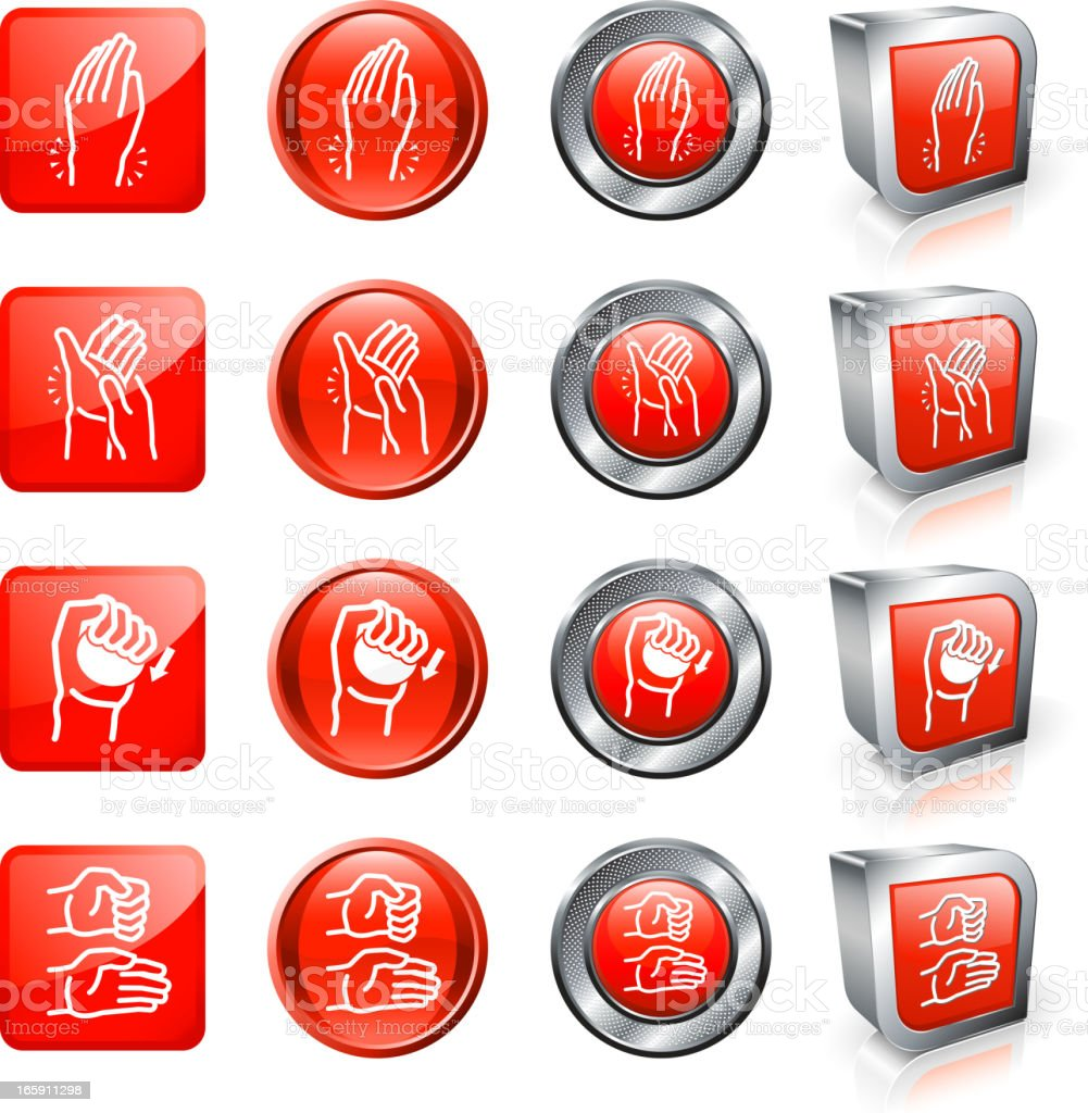 Arthritis Pain and Relief royalty free vector button set royalty-free stock vector art