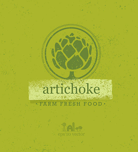 Artichoke Farm Fresh Food Vector Design Element Artichoke Farm Fresh Food Vector Design Element artichoke stock illustrations