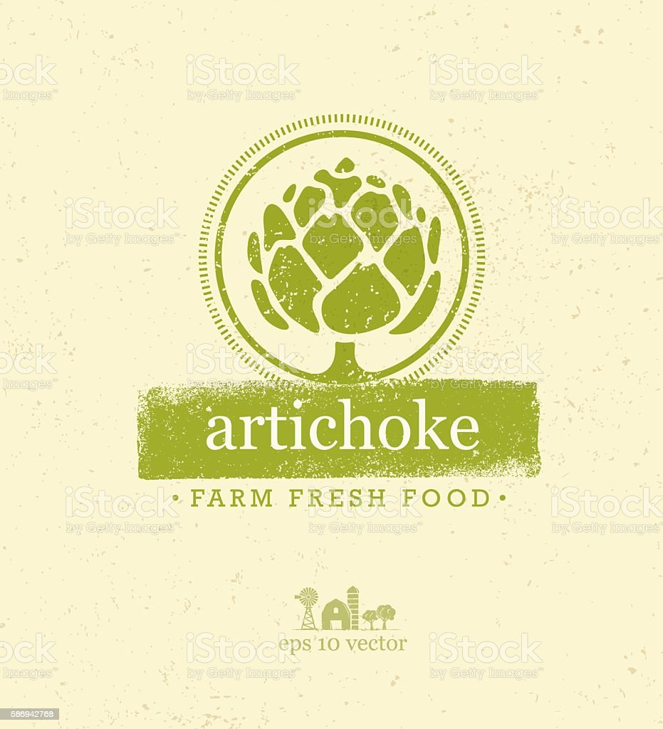 Artichoke Farm Fresh Food Vector Design Element vector art illustration