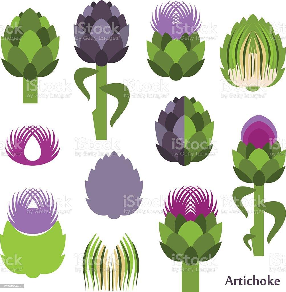 Artichoke vector art illustration