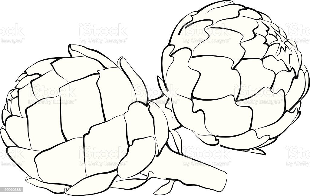artichoke royalty-free stock vector art