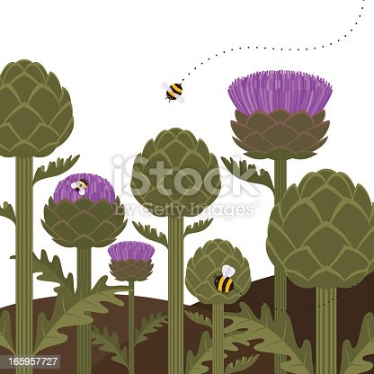 Artichokes and flowers Please see some similar pictures in my lightboxs: http://i681.photobucket.com/albums/vv179/myistock/garden.jpg