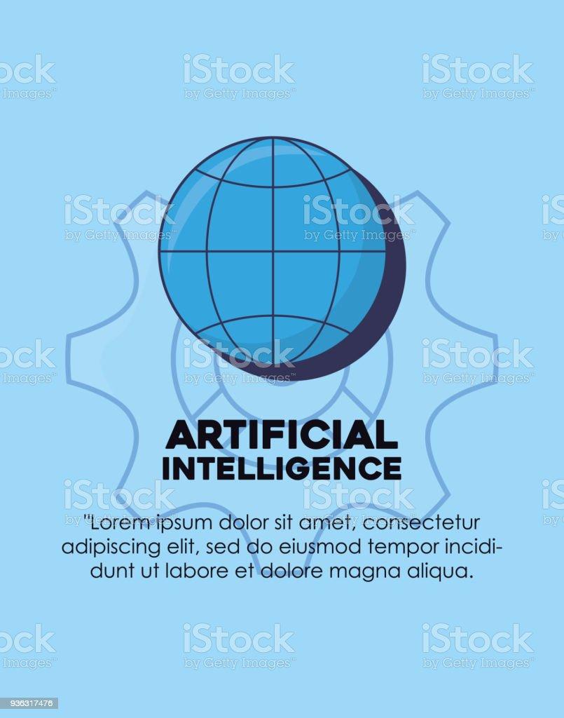 Artifical Intelligence design vector art illustration