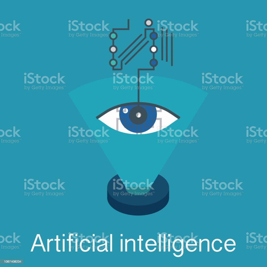 artifical intelligence vector vector art illustration