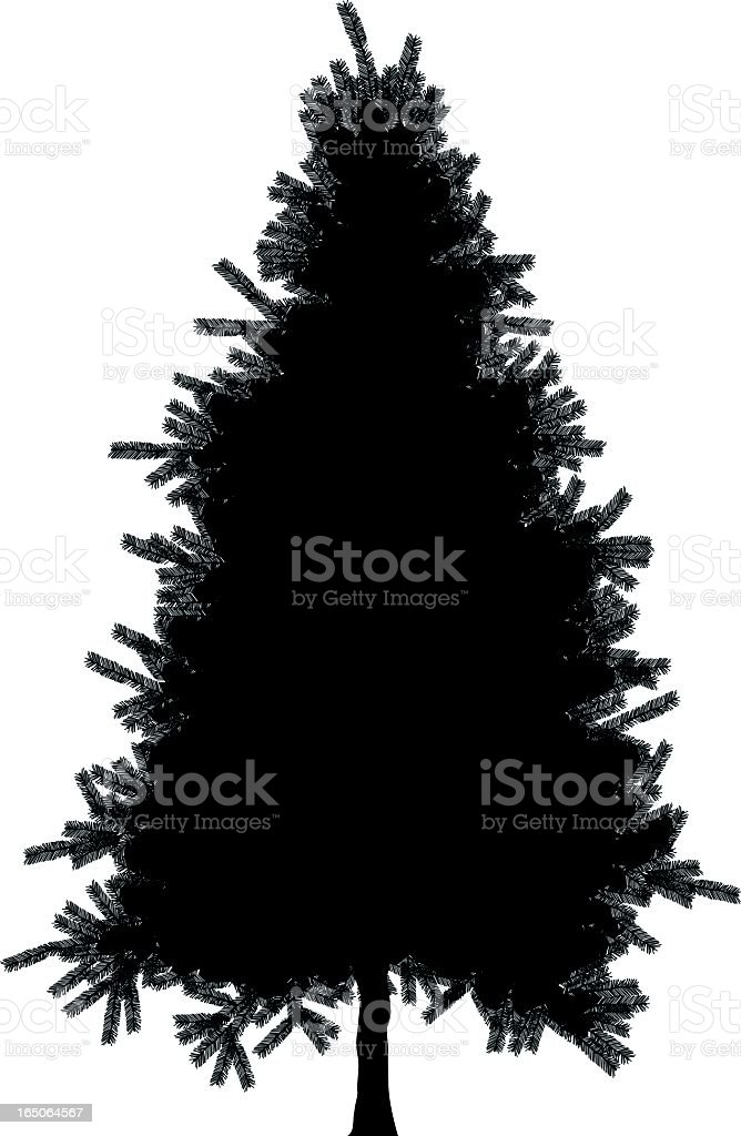 Artificial Christmas Tree Silhouette royalty-free stock vector art