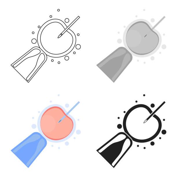 Artificial insemination icon in cartoon style isolated on white background. Pregnancy symbol stock vector illustration web - illustrazione arte vettoriale