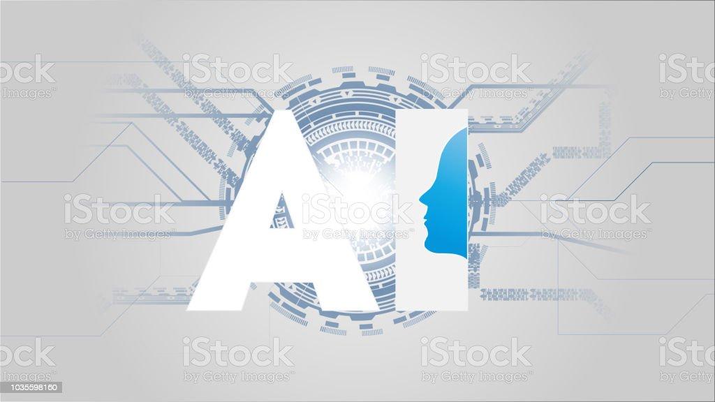 Ilustración De Inteligencia Artificial Ai Concepto Futurista