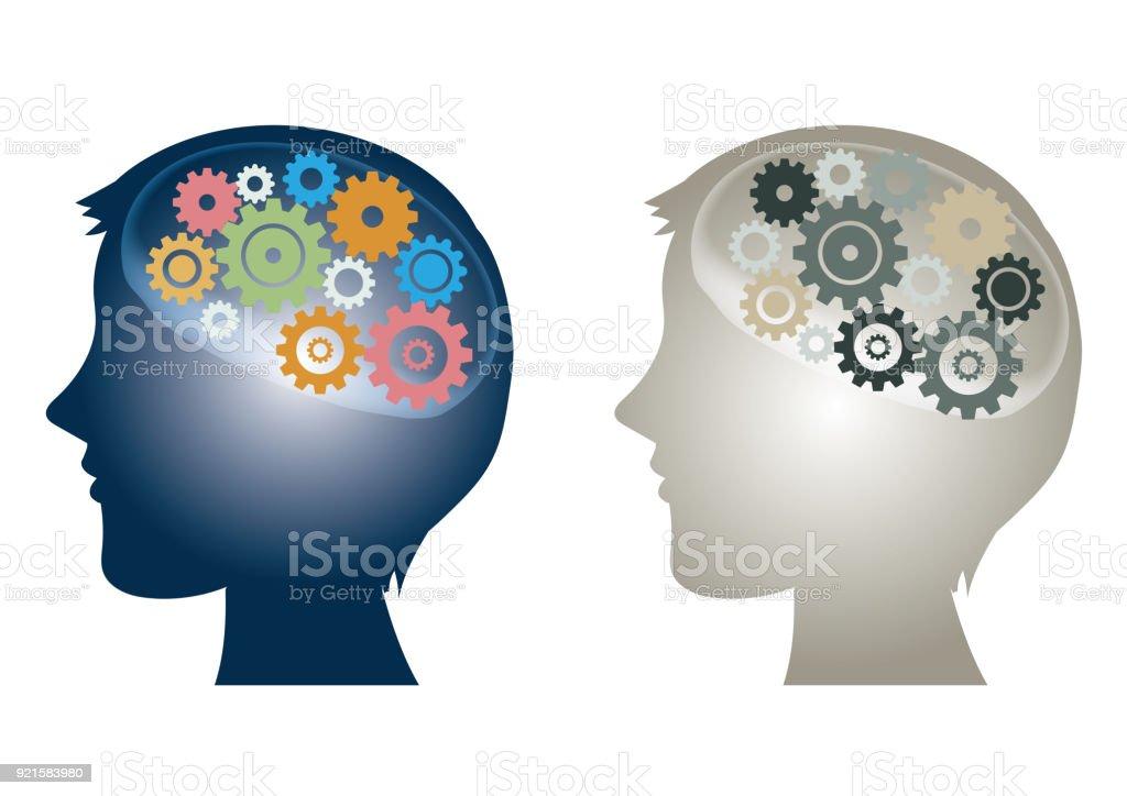 artificial intelligence - AI icon set  'CG' vector art illustration