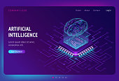 istock Artificial intelligence ai isometric landing page 1254530655