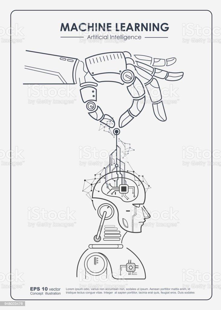 Ilustración de Inteligencia Artificial Y Machine Learning Concepto ...