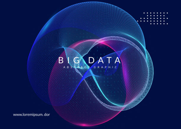 artificial intelligence background. technology for big data, vis - ai stock illustrations