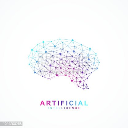 Artificial intelligence brain logo concept. Creative idea concept design brain logotype vector icon