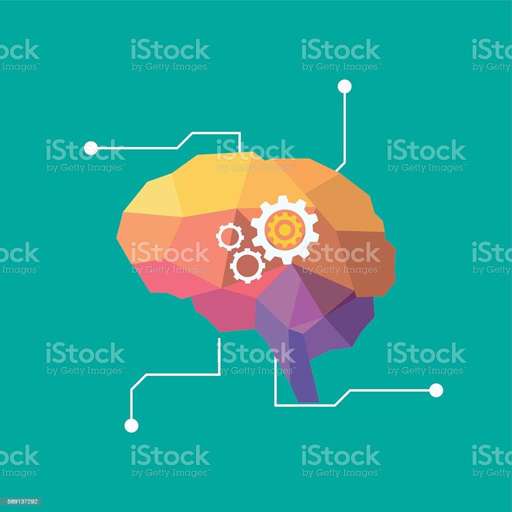 artificial intelligence brain - ilustración de arte vectorial