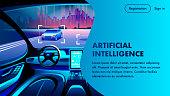 Artificial Intelligence Car Cockpit Landing Page