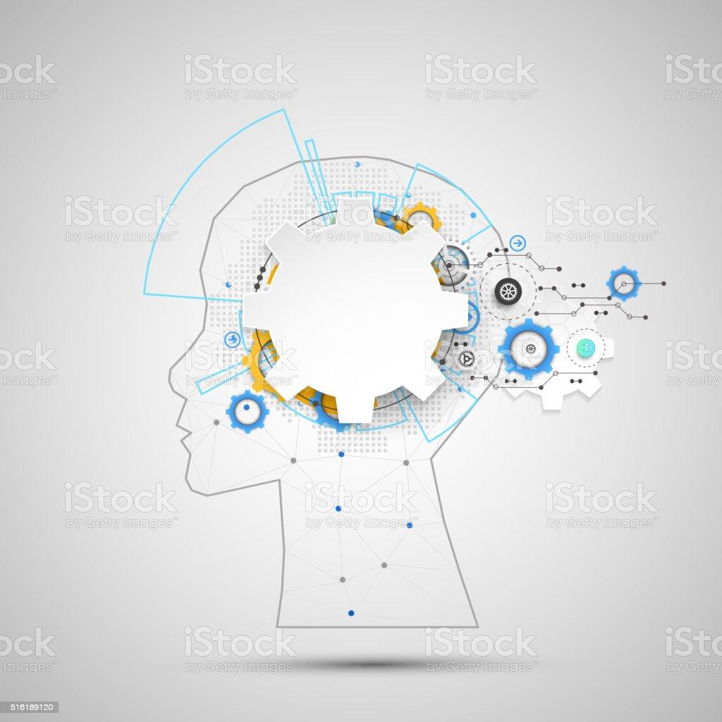 Prótesis de inteligencia concepto. - ilustración de arte vectorial