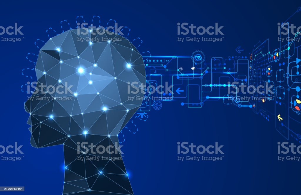 Artificial Intelligence concept. vector art illustration