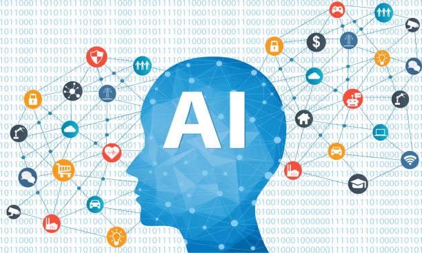 人工知能コンセプト - 人工知能点のイラスト素材/クリップアート素材/マンガ素材/アイコン素材