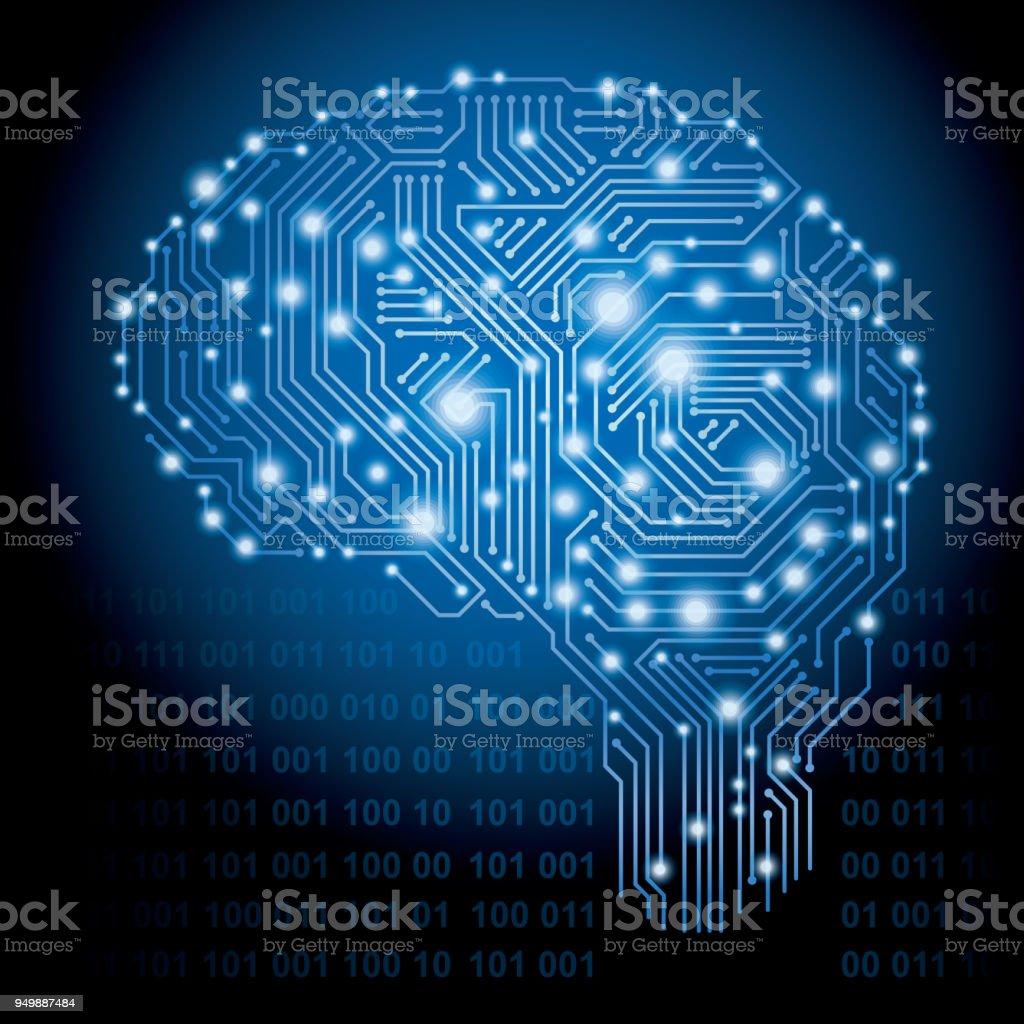 Artificial Intelligence concept. vector art illustration