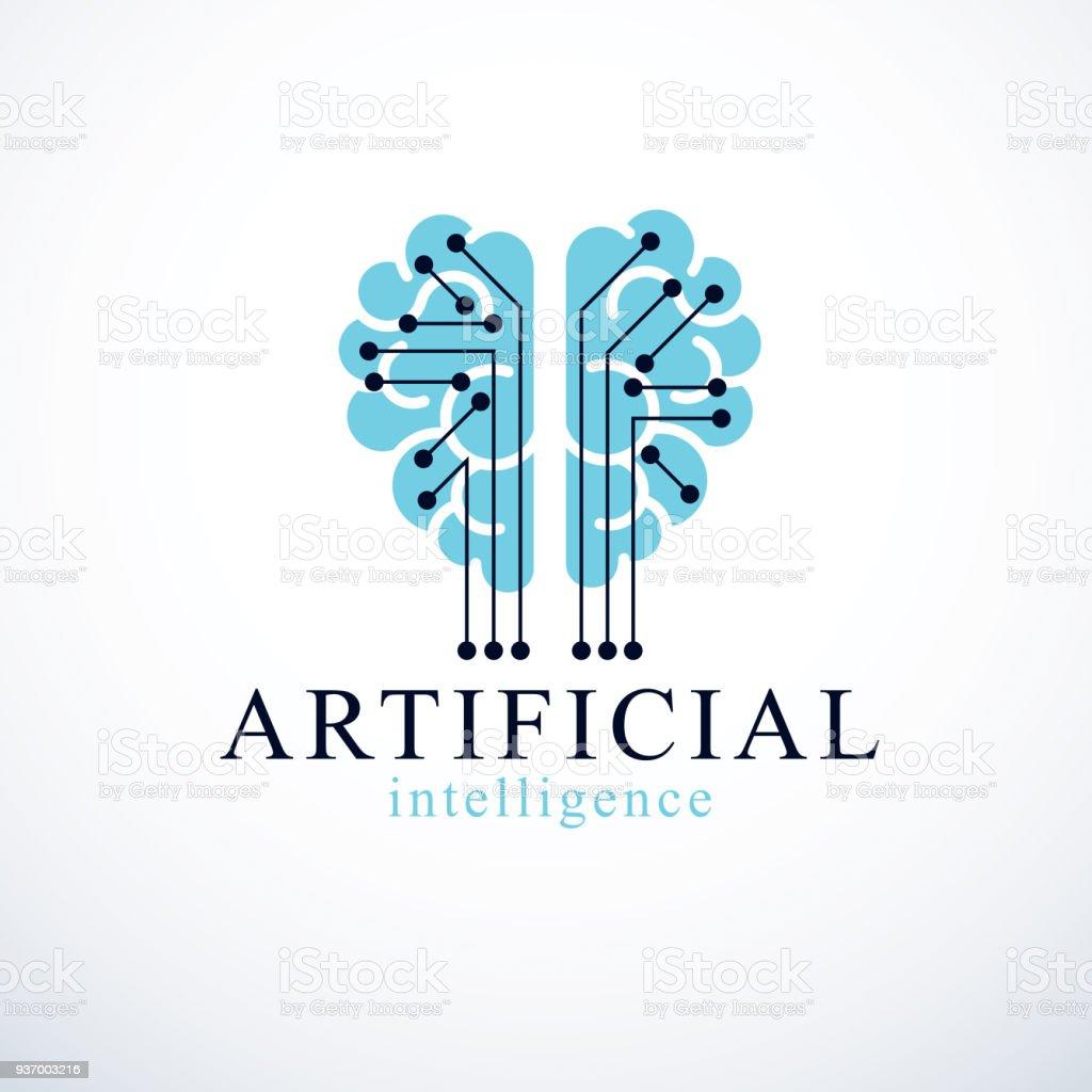 Künstliche Intelligenz Konzeptdesign Vektor Symbol Menschliche ...